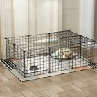 Pet Dog Pen 16 Panel Puppy Playpen Run Crate Cage Foldable Enclosure Fence US