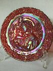 Fenton 1979 Ruby Red Mothers Day Plate Signed Don Fenton 3657 5000 Foil Sticker