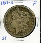 1883 S United States Morgan Silver Dollar 1 Coin EO824
