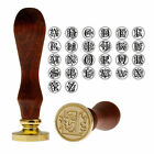 Retro Wood Handle Wax Sealing Stamp Invitation Brass Initial Letter Alphabet A Z