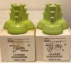 Fiesta Chartreuse Pyramid Candle Holders (Discontinued)