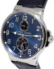 Ulysse Nardin Maxi Marine Stainless Steel Blue Dial Mens Watch & Box 263-66
