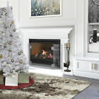 47 Wide Freestanding Tempered Glass Fireplace Screen 3 Panel Glass w Handle