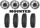 Kit 4 STI Roctane XR Tires 28x9.5-14 on Quadboss Stryker Gray Wheels IRS