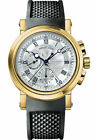 Breguet Marine Chronograph 18k Yellow Gold Mens 42mm Watch Box/Papers 5827