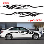 1 Pair Graphics Decals Sticker Flame Fire Totem Car Side Body Accessories Black