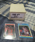 1988 89 FLEER BASKETBALL COMPLETE SET (132 CARDS) + ALL STICKERS MICHAEL JORDAN