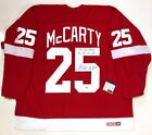 DARREN MCCARTY SIGNED STANLEY CUP INSCRIBED DETROIT RED WINGS CCM JERSEY BECKETT