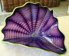Dale Chihuly Imperial Purple Iris Persian with Chartreuse Lip Wrap Studio 1999