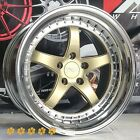 XXR 565 Wheels 20 +25 Gold PVD Lip Staggered 5x1143 Fit 07 Infiniti G35 Coupe S