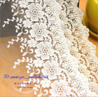 1YDCotton Floral Embroidery Tulle Lace edge Trim Ribbon Fabric Sewing DIY FL315