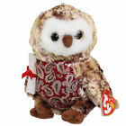 TY Beanie Baby - SMARTY the Graduation Owl (w/Red Chest & No Hat version) MWMTs
