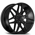 4ea 20 Staggered Giovanna Wheels Bogota Black Rims S4