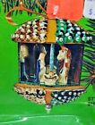 Fibre Craft NATIVITY SCENE Multi Carousel Sequin Bead Vtg Christmas Ornament Kit