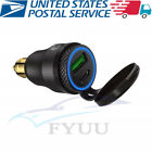 Black Aluminum Motorcycle Bike Dual USB Type C PD Fast Charger Power Adapter X1