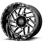4 22 Moto Metal Wheels MO985 Breakout Gloss Black Machined Off Road S4