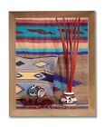 Southwestern Native Indian Pottery 2 Wall Picture Honey Framed Art Print