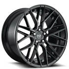 4ea 20 Staggered Niche Wheels M190 Gamma Matte Black Rims S4