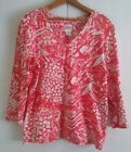 RUBY RED FAVORITES Womens Knit Top Large 3 4 Sleeves L large French writing Red