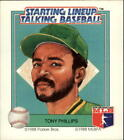 1988 (ATHLETICS) Starting Lineup A's #13 Tony Phillips