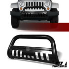 For 07 09 Jeep Wrangler Jk Black Bull Bar Brush Push Bumper Grill Grille Guard