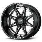4 18 Moto Metal Wheels MO993 Gloss Black Milled Off Road Rims S7