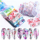 Nail Foil Transfer Stickers Decals Holographic Flower Nail Art Starry Decoration