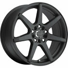 4 16x7 Black Wheel Raceline Evo 131B 5x425 5x45 20