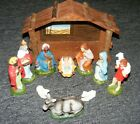 Vintage Nativity Set Ceramic Japan Manger Figures Animals Christmas 11 Piece Set