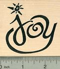 Joy Rubber Stamp Large Text Holiday Series K35601 WM