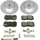 ESK6231 Powerstop 2 Wheel Set Brake Disc and Pad Kits Front New for Mercedes