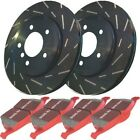 S4KR1157 EBC 2 Wheel Set Brake Disc and Pad Kits Rear New for Mercedes Camry