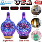 7 Color 100ML 3D Firework Glass Essential Oil Aroma Diffuser LED Air Humidifier