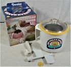 Vintage DONVIER Ice Cream Maker Yellow Rim 2 Pints Made in Japan Clean w Box