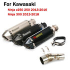 For Kawasaki Ninja Z250 250 300 Motorcycle Exhaust System Pipe Silencer Mid Pipe