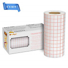 Clear Vinyl Transfer Paper Tape Roll 6 x 50 Feet Clear w Red Alignment Grid
