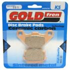 Rear Disc Brake Pads for Yamaha Raptor 90 YFM90 2011 88cc  By GOLDfren