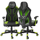 Gaming Chair Racing Style Office Desk Computer Recliner Leather Wled Light Mesh