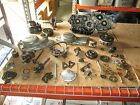 1980 Yamaha TT250 Engine Cases Clutch & Magneto Cover Cylinder Etc Parts Lot