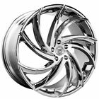 4ea 22 Lexani Wheels Twister Chrome Rims S12