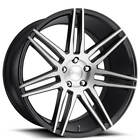 4ea 20 Staggered Niche Wheels M178 Trento Brushed Gloss Black RimsS8