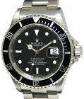 Rolex Submariner Date Steel Black Dial/Bezel Mens Watch Box/Papers 16610