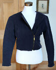 Vintage Womens Armani Jeans Jacket Moto Style Quilted Navy Blue Size L