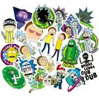 50PCS Rick and Morty Stickers Decal for Laptop Luggage Fridge Vinyl Wall Decor