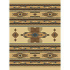 53 x 76 Western Decor Rugs Southwest Lodge Cabin Area Rug Native Brown Beige