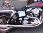 Chrome Thunderheader 2 into 1 21 Full Exhaust System Pipe 1993 1998 Harley Dyna