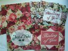 13 Floral Note Cards by CPS w Envelopes Assorted designs Valentines day Look