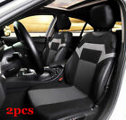 2pcs Black Gray Car Front Seat Cover Universal Seat Cushion Protector Washable