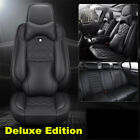Luxury Car Seat Cover 6D Surround Seat Cushion Breathble Leather Pad w Headrest
