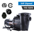 115V 2 Speed 1 075HP INGROUND Swimming POOL PUMP Strainer Energy Saving